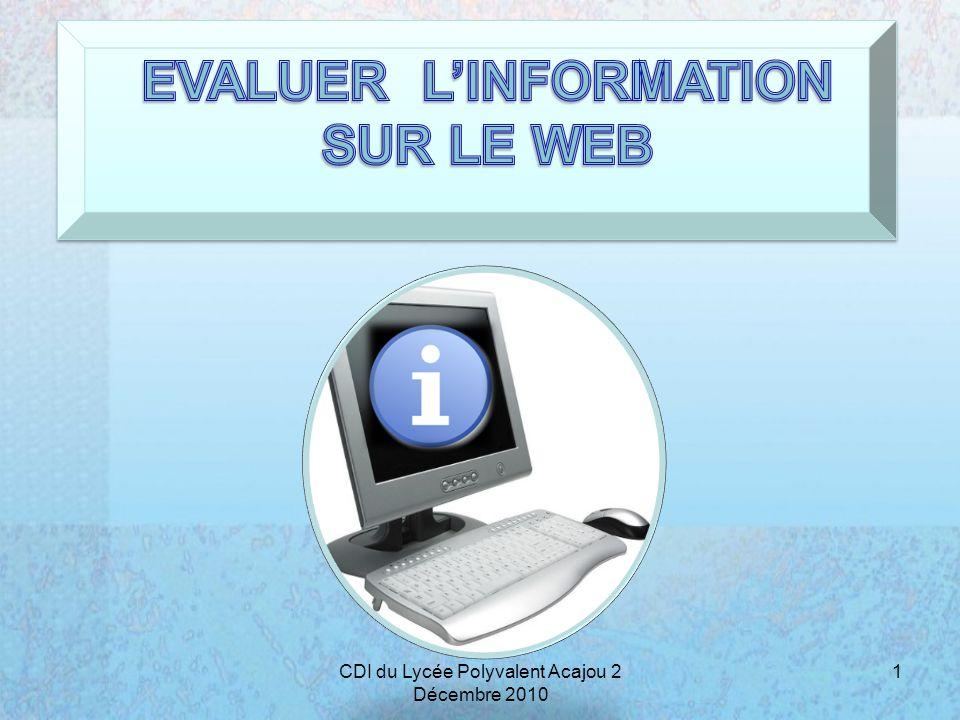POURQUOI VERIFIER LINFORMATION SUR INTERNET .