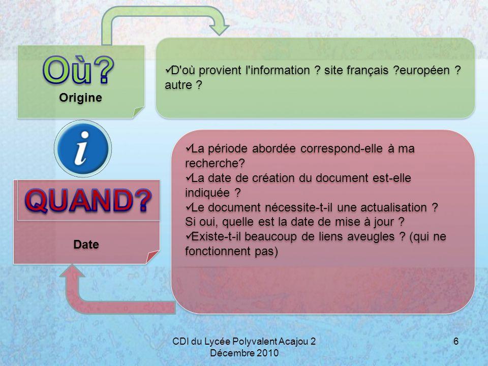 Présentation & navigation Objectifs Comment se présente le document .