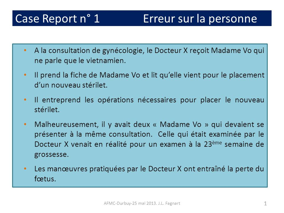 Case Report n° 3 Infection nosocomial AFMC-Durbuy-25 mai 2013.
