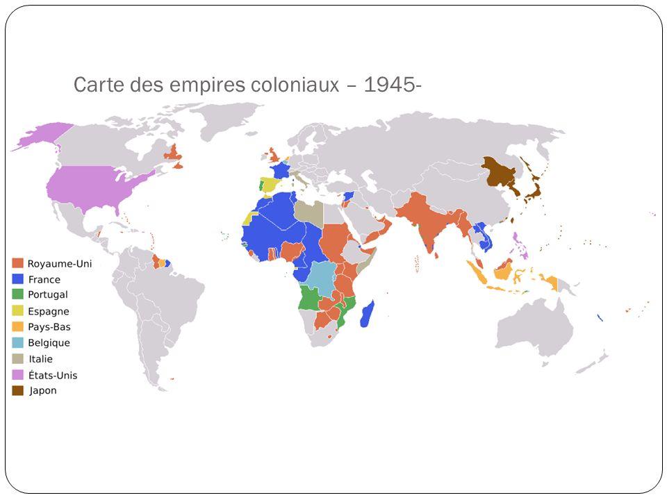Carte des empires coloniaux – 1945-