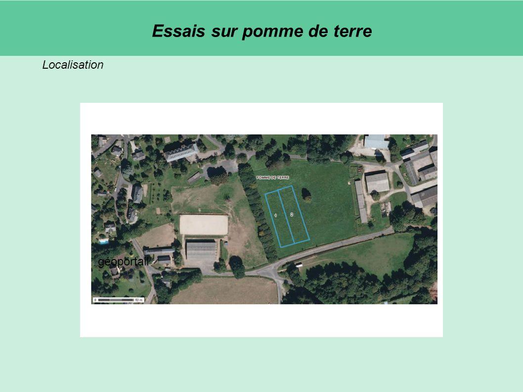 Localisation géoportail Essais sur pomme de terre