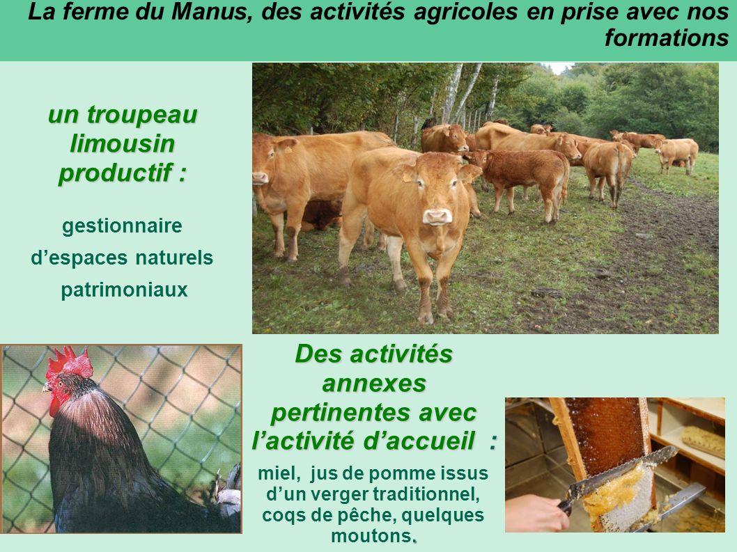 La ferme du Manus, une ferme pédagogique Un objectif général: « Promouvoir les relations agriculture/environnement » Un sentier découverte de la Ferme du Manus : Le sentier proposé est un sentier dinterprétation.