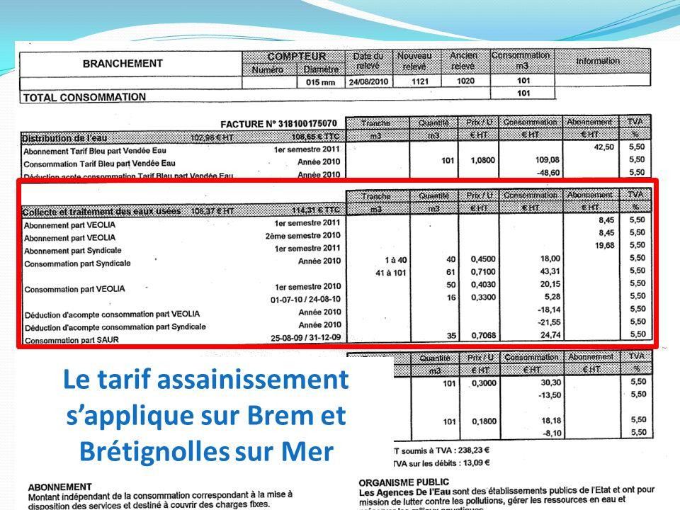Le tarif assainissement sapplique sur Brem et Brétignolles sur Mer