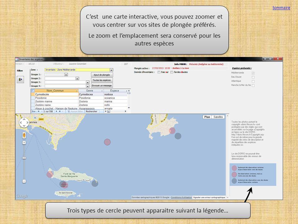 Sommaire Cest une carte interactive, vous pouvez zoomer et vous centrer sur vos sites de plongée préférés. Le zoom et lemplacement sera conservé pour
