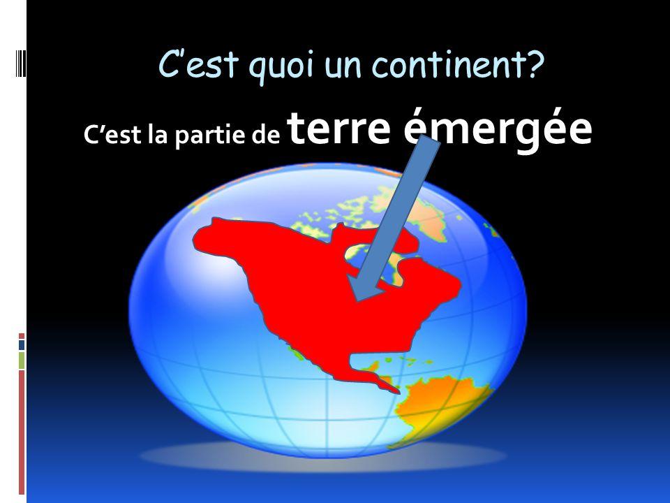 CONTINENTSdOCÉANS La terre est faite de CONTINENTS et dOCÉANS