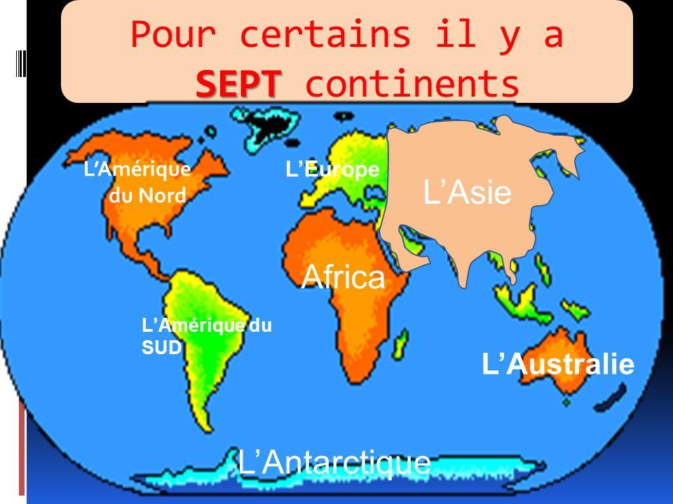 AMERIQUE AFRIQUE EUROPE ASIE OCEANIE ANTARCTIQUE