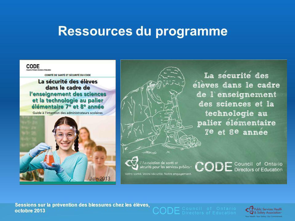 Ressources du programme