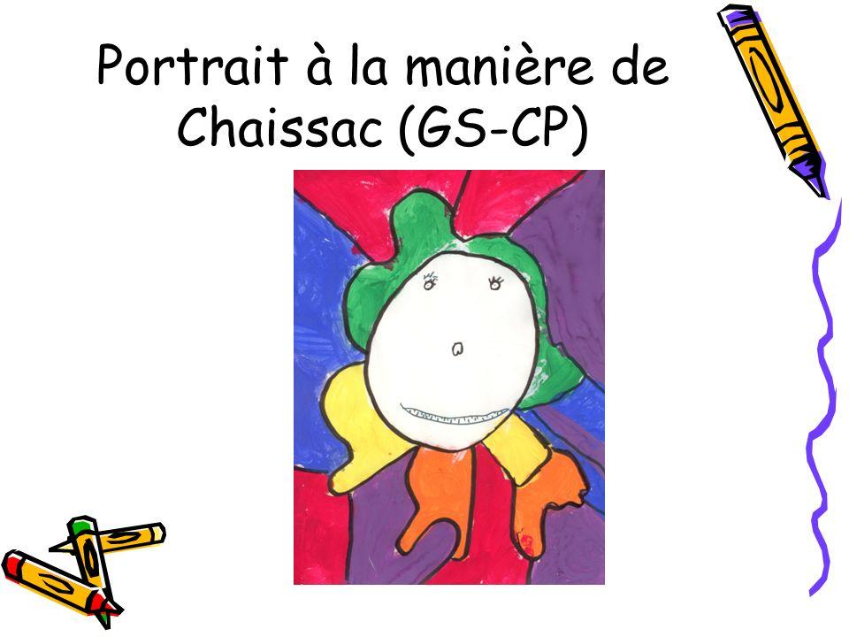 Portrait à la manière de Chaissac (GS-CP)