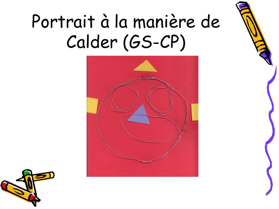 Portrait à la manière de Calder (GS-CP)