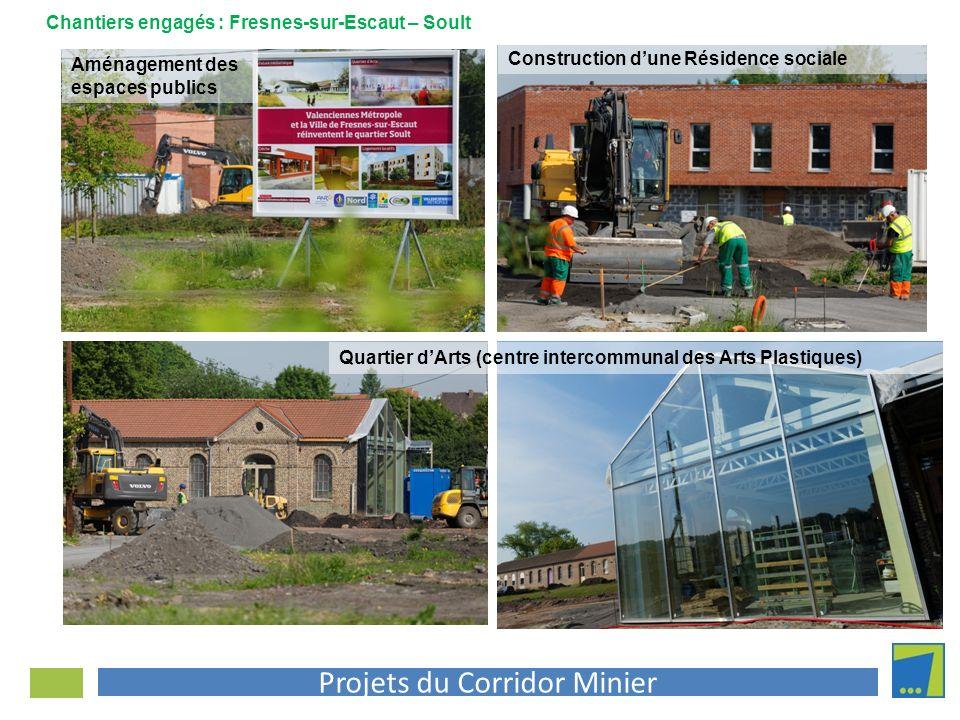 Projets du Corridor Minier Quartier dArts (centre intercommunal des Arts Plastiques) Construction dune Résidence sociale Chantiers engagés : Fresnes-s