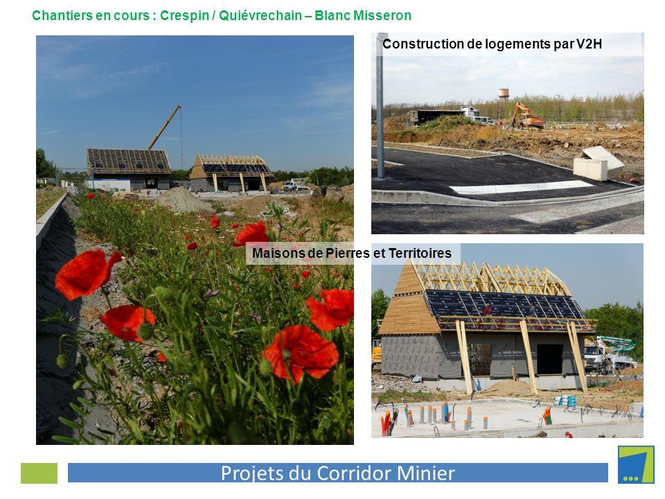 Projets du Corridor Minier Maisons de Pierres et Territoires Chantiers en cours : Crespin / Quiévrechain – Blanc Misseron Construction de logements pa