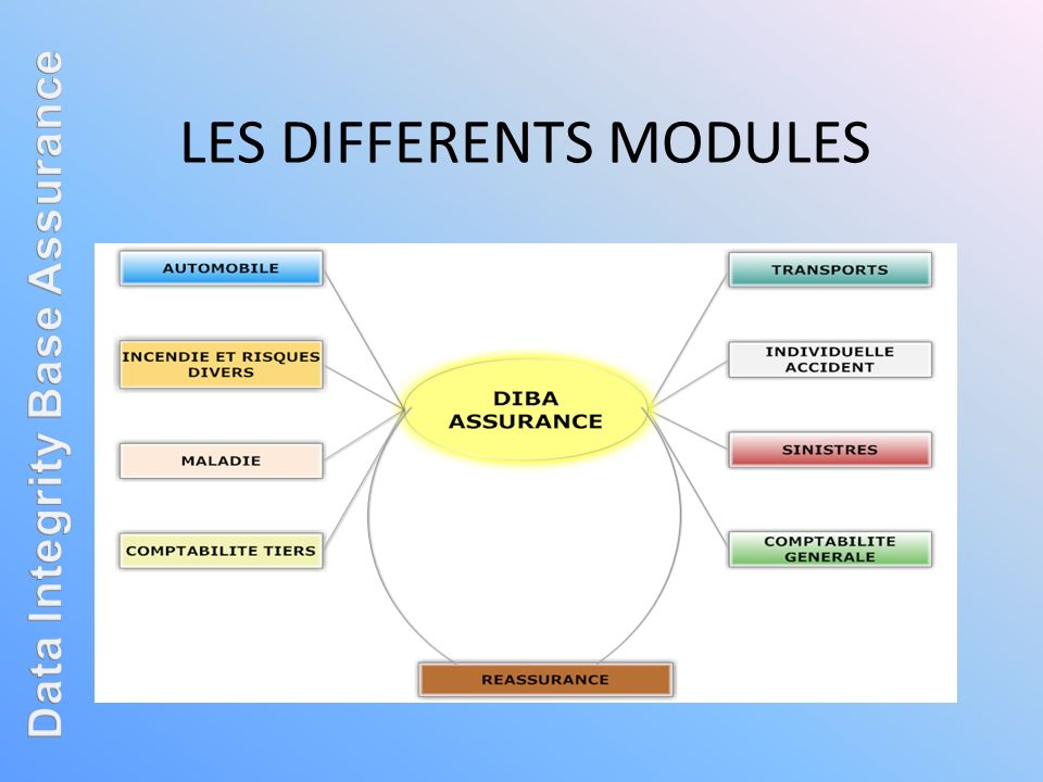 LES DIFFERENTS MODULES