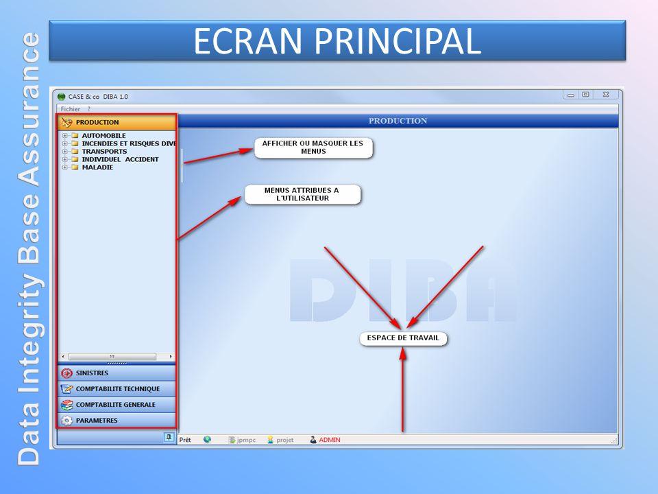 ECRAN PRINCIPAL