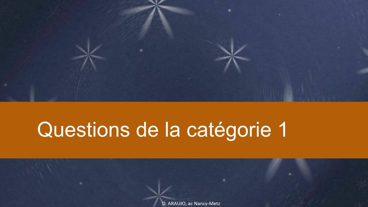 Questions de la catégorie 1