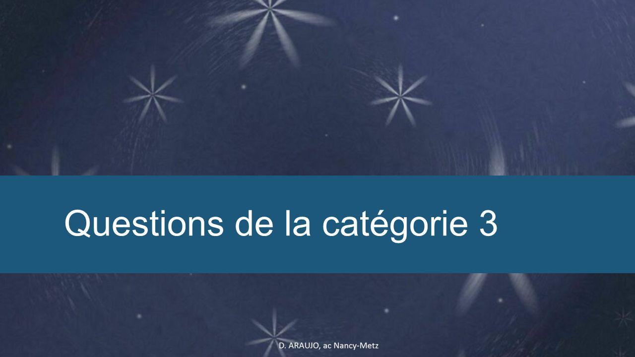 Questions de la catégorie 3
