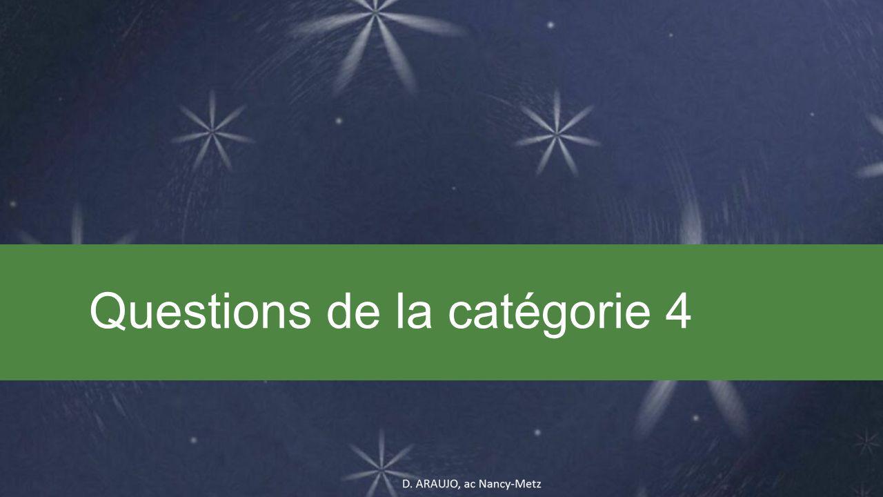 Questions de la catégorie 4