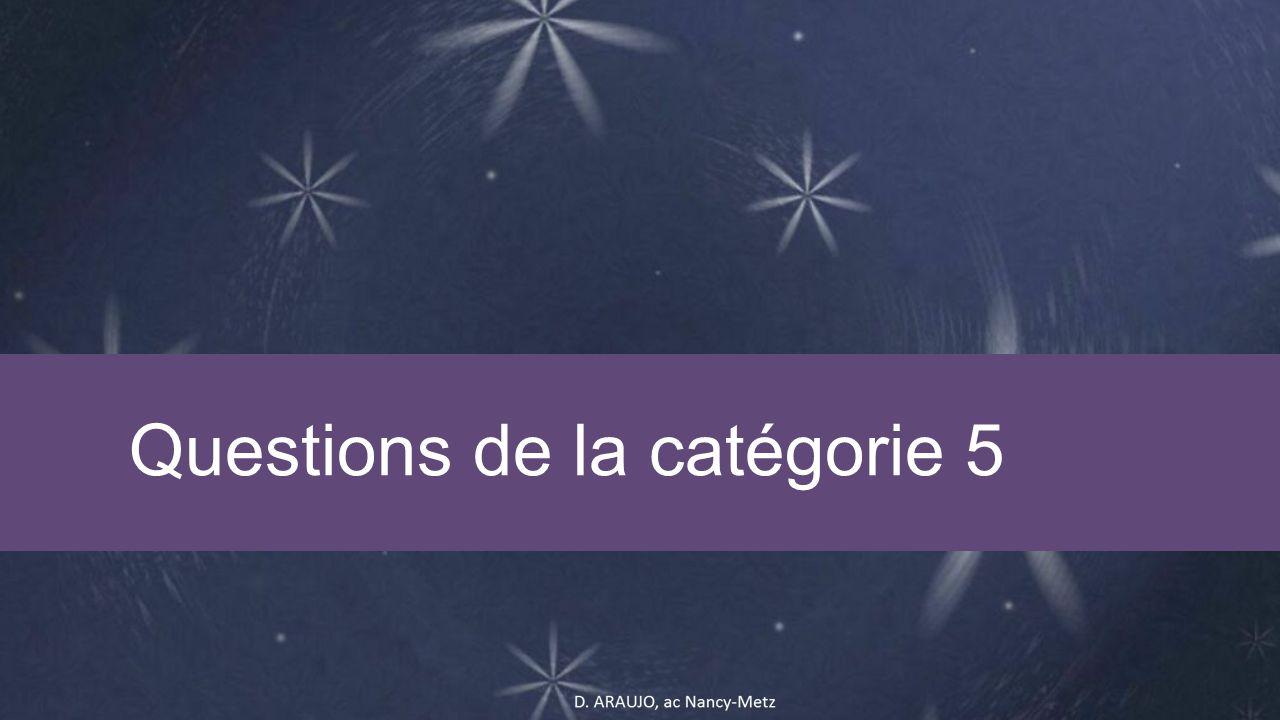 Questions de la catégorie 5