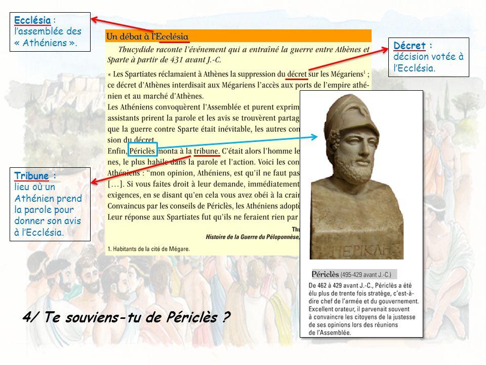 5/ Relie chaque passage encadré du texte à un élément de la reconstitution.