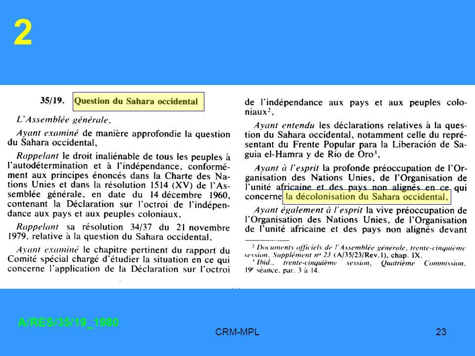 CRM-MPL23 2 A/RES/35/19_1980