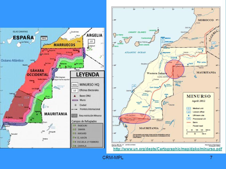 CRM-MPL28 3 Les Nations Unies reconnaissent internationalement lexistence du « peuple du Sahara occidental » Quinze énoncés de base sur le conflit du Sahara occidental A/RES/2072_1965 A/RES/2229_1966 A/RES/3458-A_1975 A/RES/3458-B_1975 A/RES/33-31_1978 A/RES/34-37_1979 A/RES/35-19_1980 A/RES/64/101_2010 A/RES/65/112_2011 S/RES/1920_2010