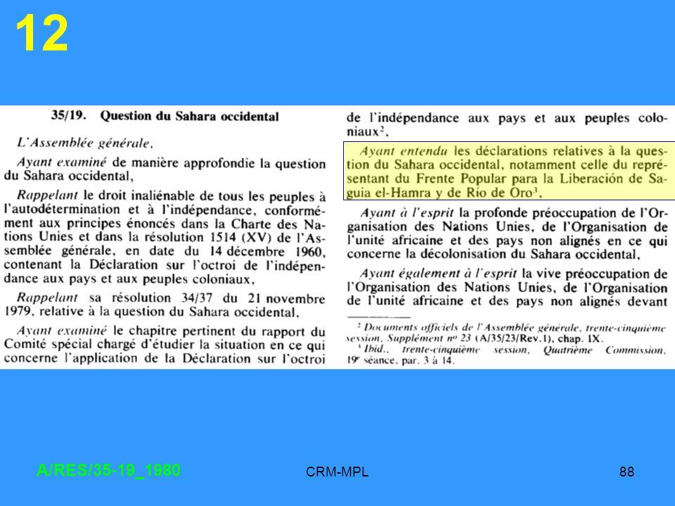 CRM-MPL88 12 A/RES/35-19_1980