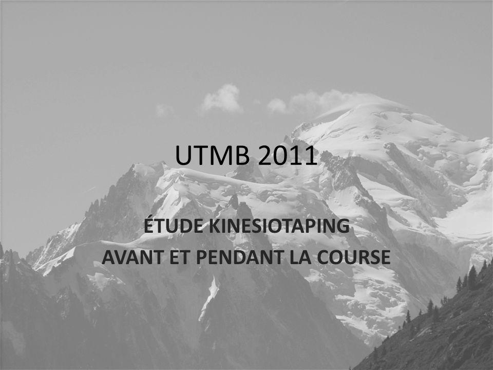 UTMB 2011 ÉTUDE KINESIOTAPING AVANT ET PENDANT LA COURSE