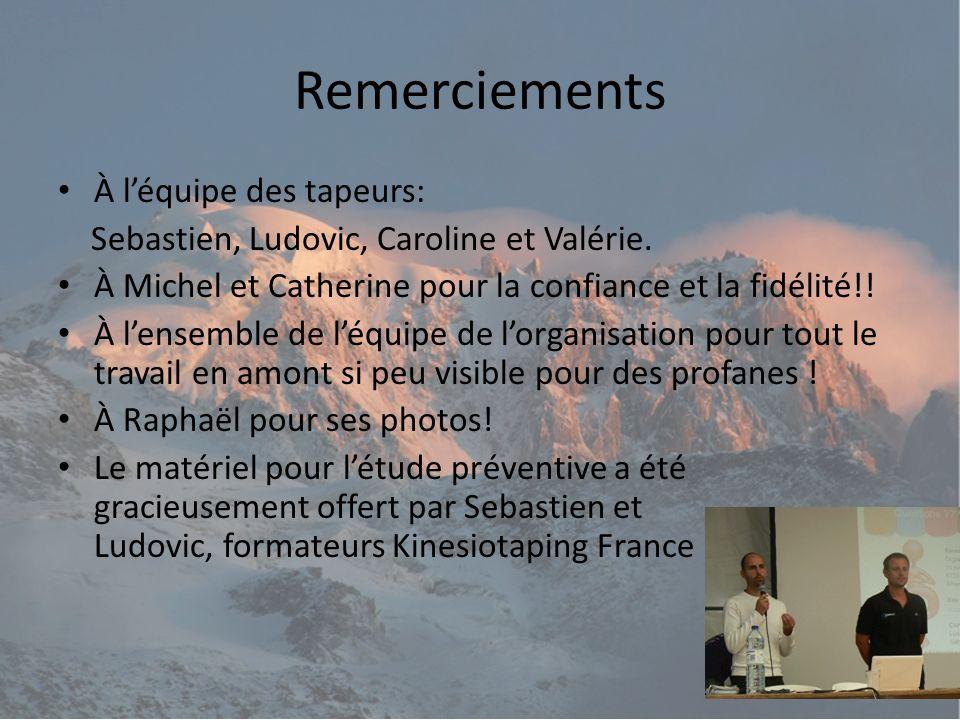 Remerciements À léquipe des tapeurs: Sebastien, Ludovic, Caroline et Valérie.