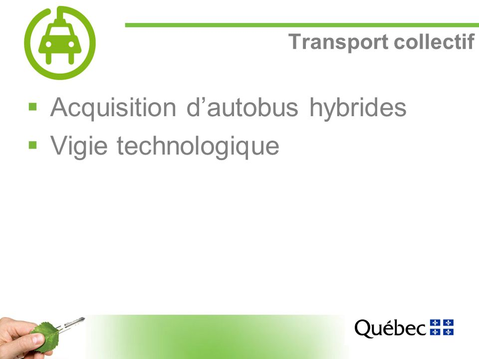 14 Transport collectif Acquisition dautobus hybrides Vigie technologique