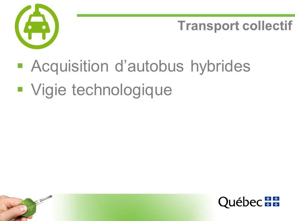 14 Transport collectif Acquisition dautobus hybrides Vigie technologique