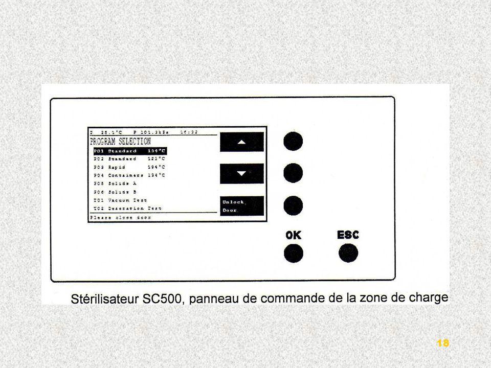 3-Imprimante numérique : Les stérilisateurs sont équipés dune imprimante placée sur le panneau frontal de la zone de charge.