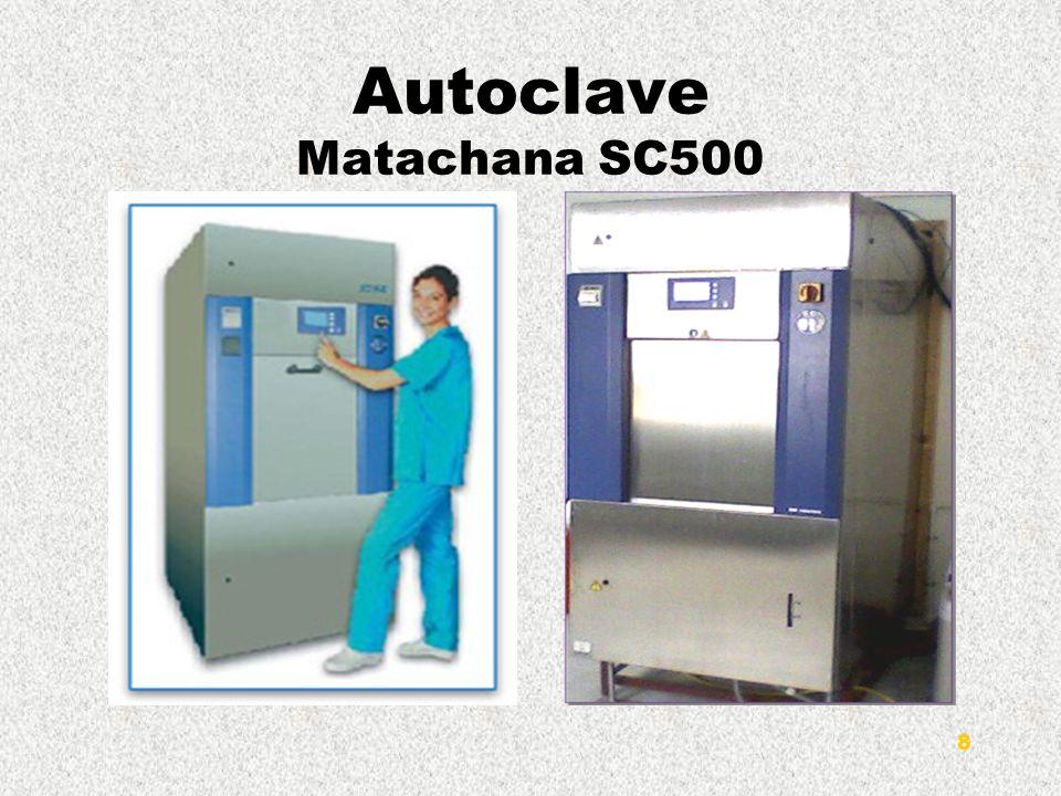 Description de léquipement Les stérilisateurs MATACHANA de la série SC500 sont caractérisés par une chambre cylindrique dont la profondeur, et donc sa capacité, varient selon le modèle.