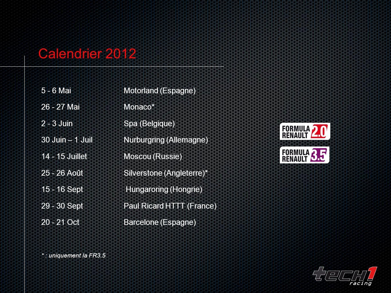 Calendrier 2012 5 - 6 Mai Motorland (Espagne) 26 - 27 Mai Monaco* 2 - 3 Juin Spa (Belgique) 30 Juin – 1 Juil Nurburgring (Allemagne) 14 - 15 Juillet M