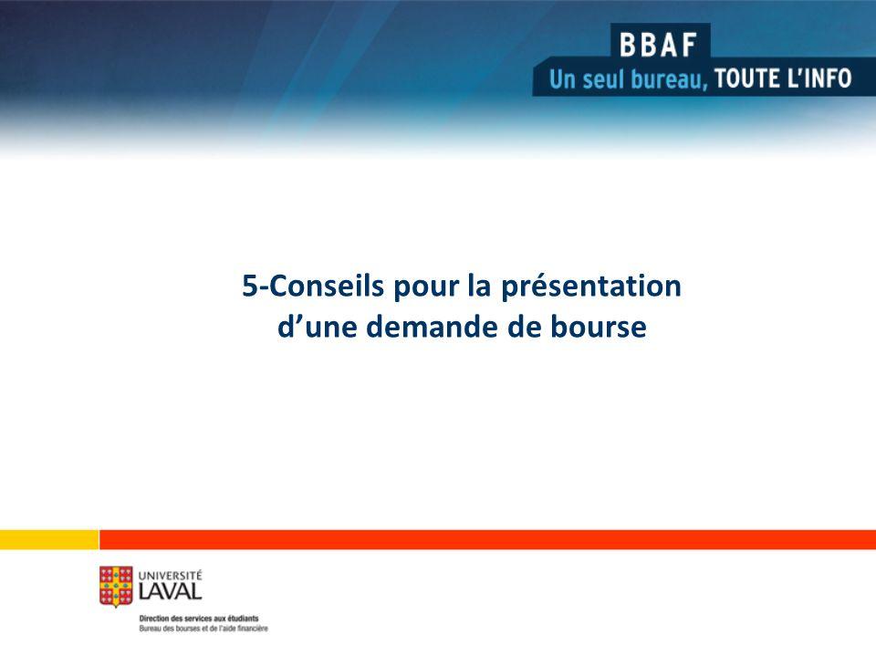 5-Conseils pour la présentation dune demande de bourse