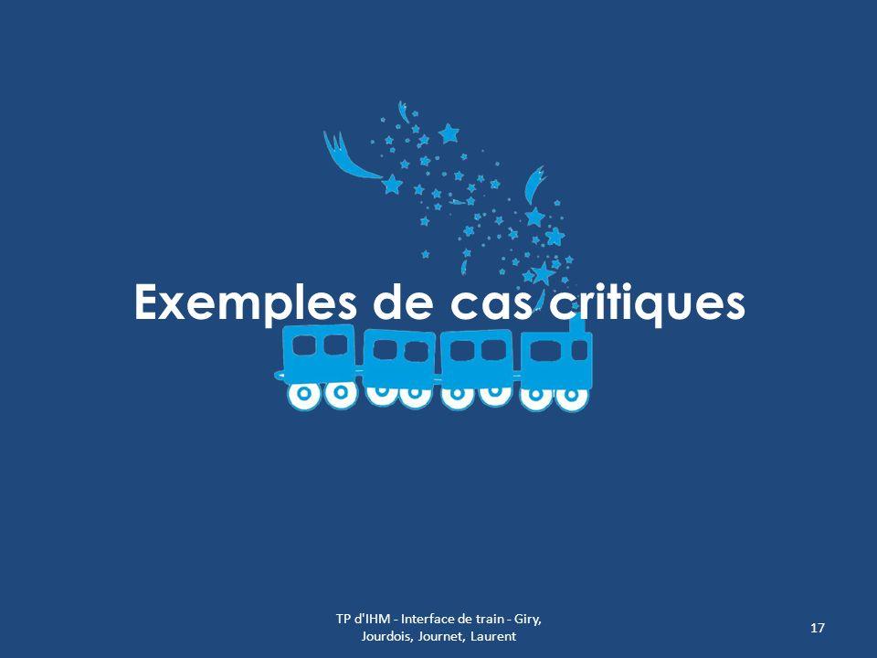 Exemples de cas critiques TP d'IHM - Interface de train - Giry, Jourdois, Journet, Laurent 17