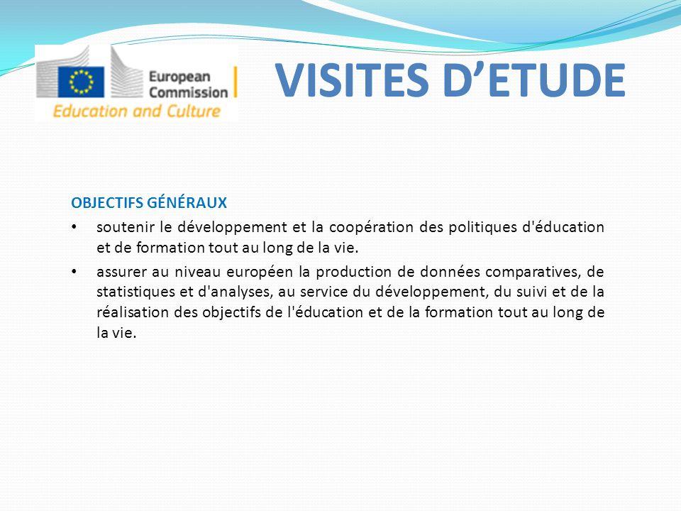 OBJECTIFS GÉNÉRAUX soutenir le développement et la coopération des politiques d éducation et de formation tout au long de la vie.