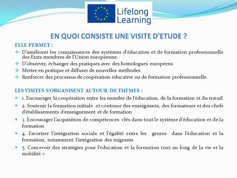 ELLE PERMET : Daméliorer les connaissances des systèmes d éducation et de formation professionnelle des Etats membres de l Union européenne.