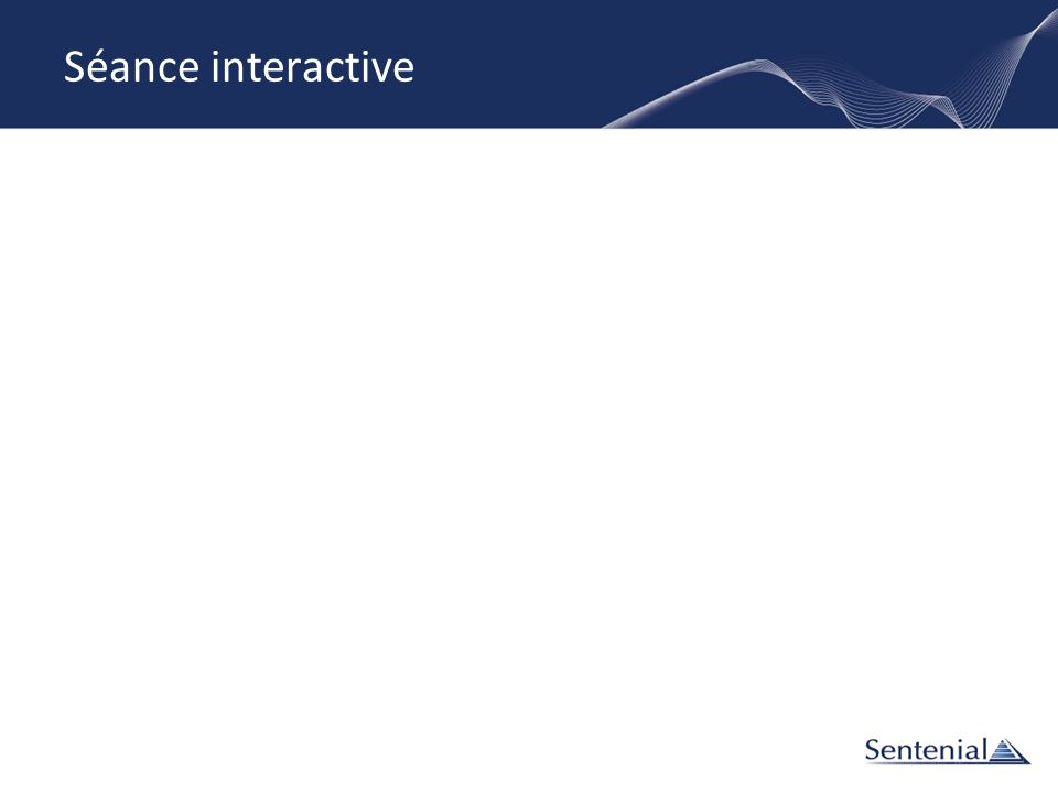 Séance interactive