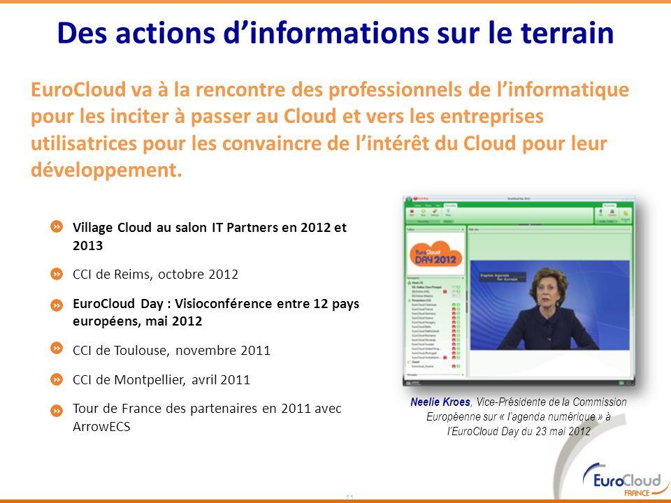 EuroCloud va à la rencontre des professionnels de linformatique pour les inciter à passer au Cloud et vers les entreprises utilisatrices pour les conv