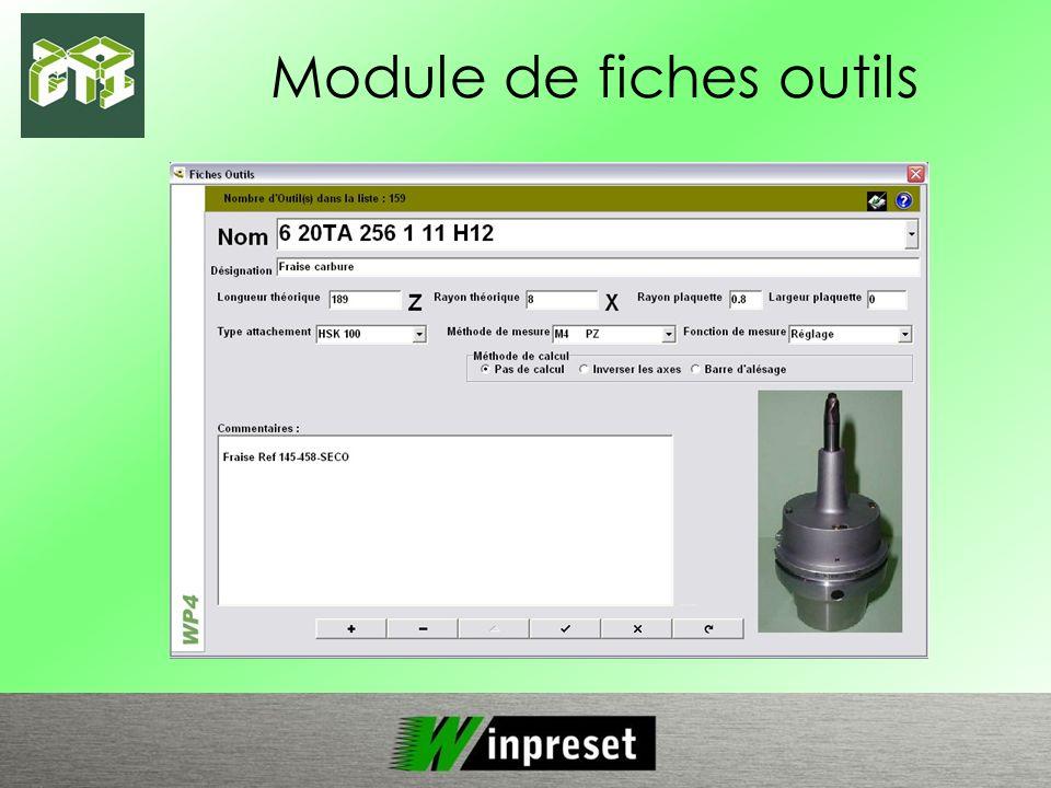 Module de fiches outils