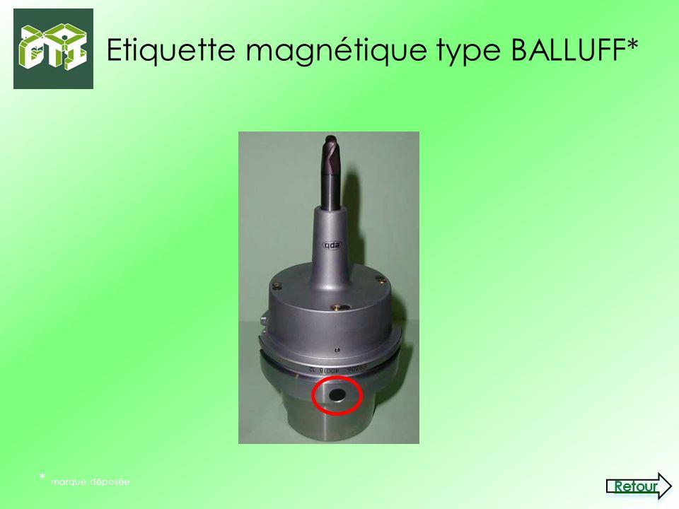 Etiquette magnétique type BALLUFF* * marque déposée
