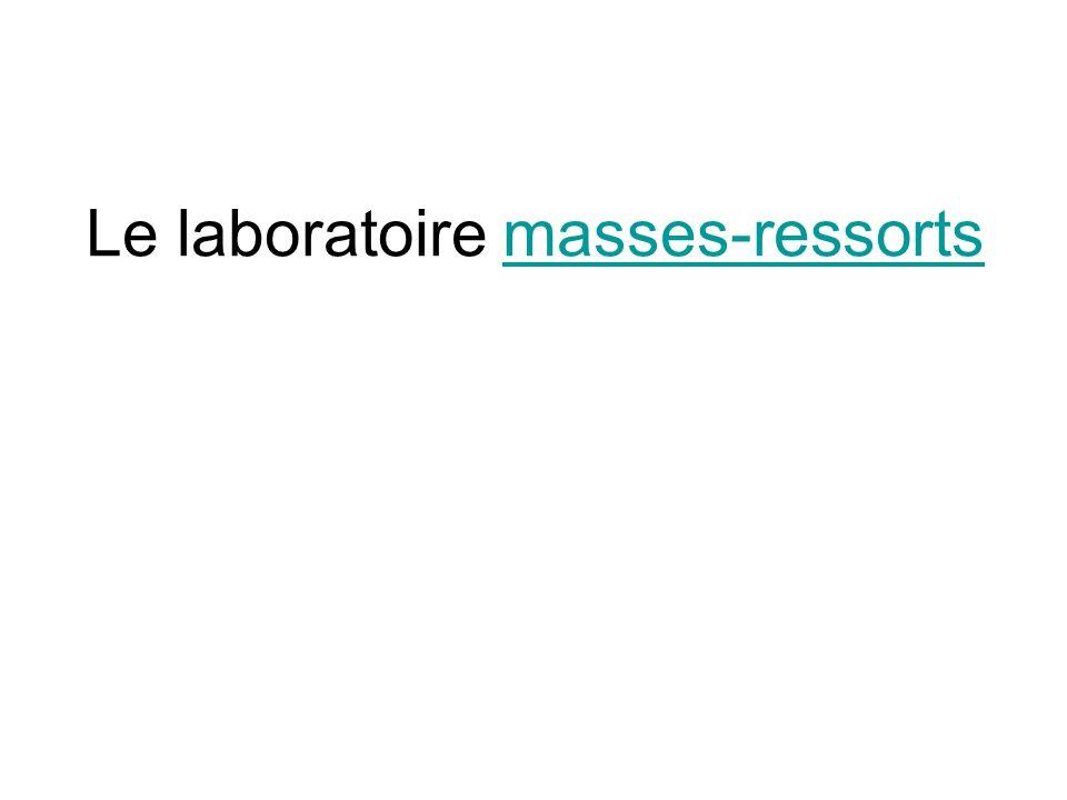 Le laboratoire masses-ressortsmasses-ressorts