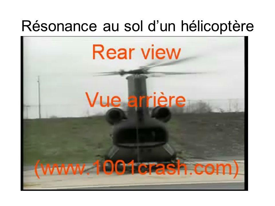 Résonance au sol dun hélicoptère