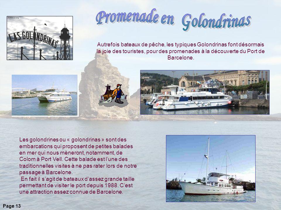 Les golondrines ou « golondrinas » sont des embarcations qui proposent de petites balades en mer qui nous mèneront, notamment, de Colom à Port Vell.