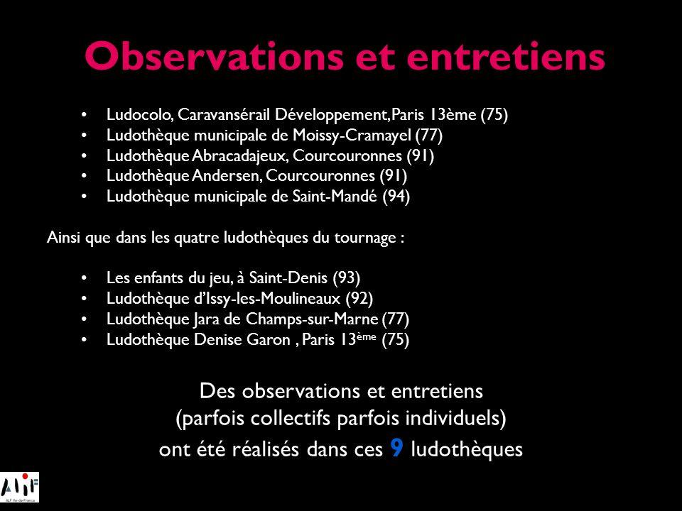 Ludocolo, Caravansérail Développement, Paris 13ème (75) Ludothèque municipale de Moissy-Cramayel (77) Ludothèque Abracadajeux, Courcouronnes (91) Ludo