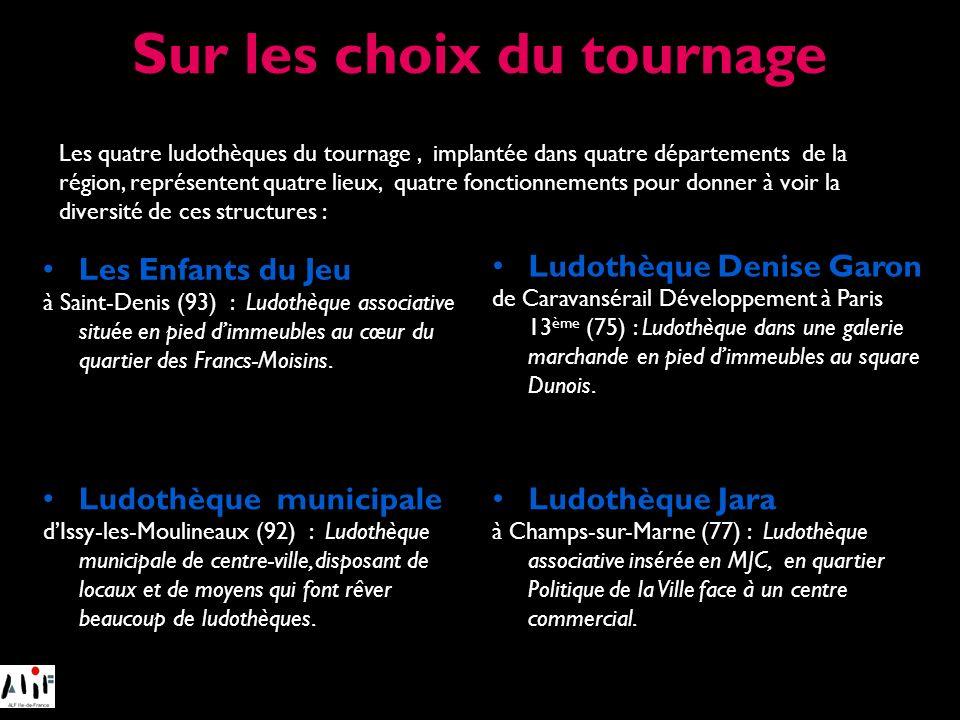 Les Enfants du Jeu à Saint-Denis (93) : Ludothèque associative située en pied dimmeubles au cœur du quartier des Francs-Moisins. Les quatre ludothèque