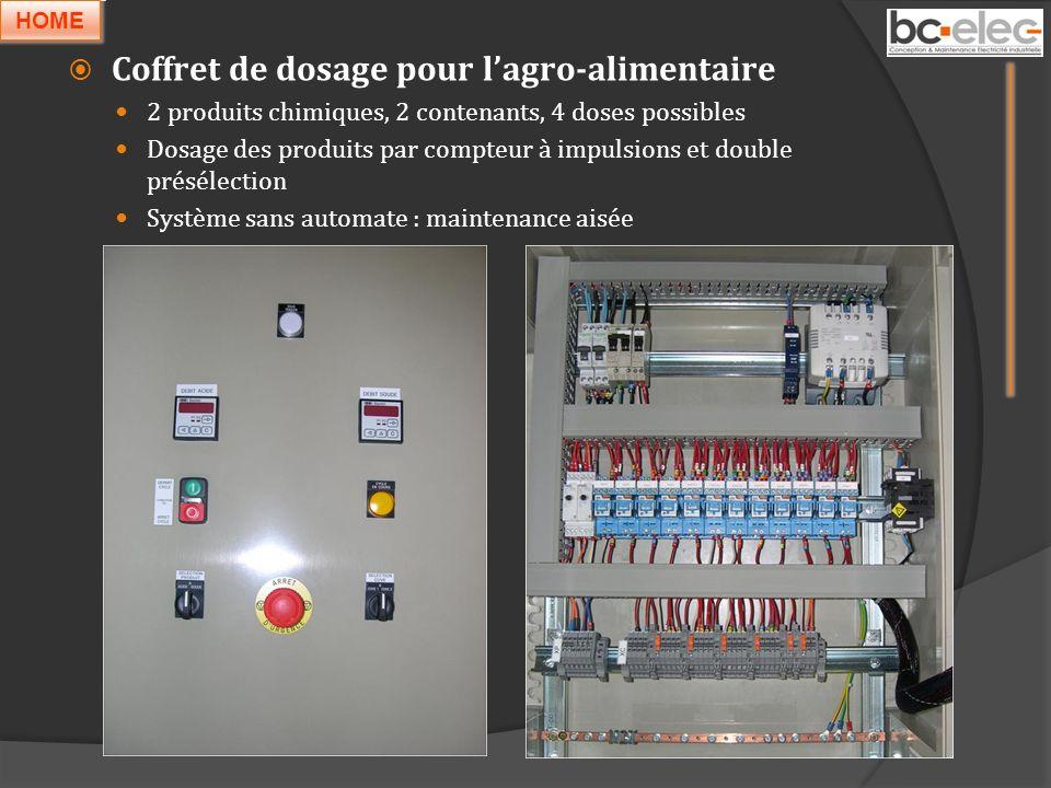 Coffret de dosage pour lagro-alimentaire 2 produits chimiques, 2 contenants, 4 doses possibles Dosage des produits par compteur à impulsions et double