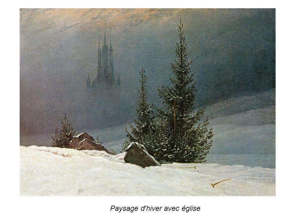 Paysage d hiver avec église