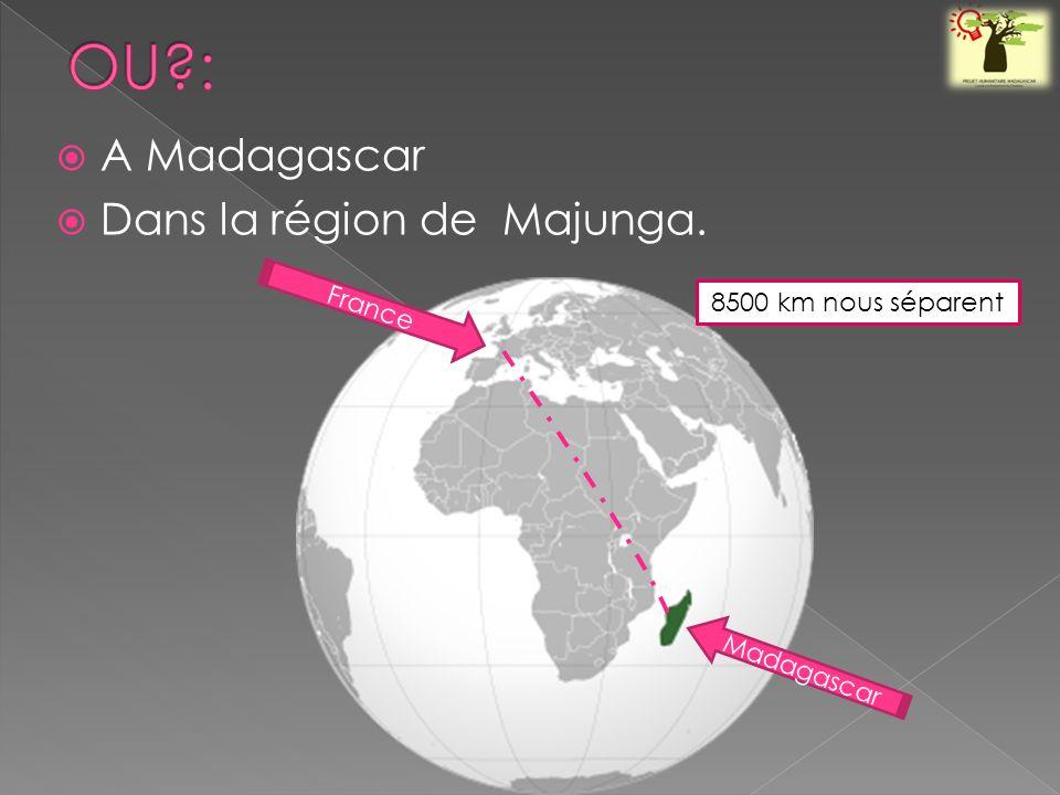 A Madagascar Dans la région de Majunga. France Madagascar 8500 km nous séparent