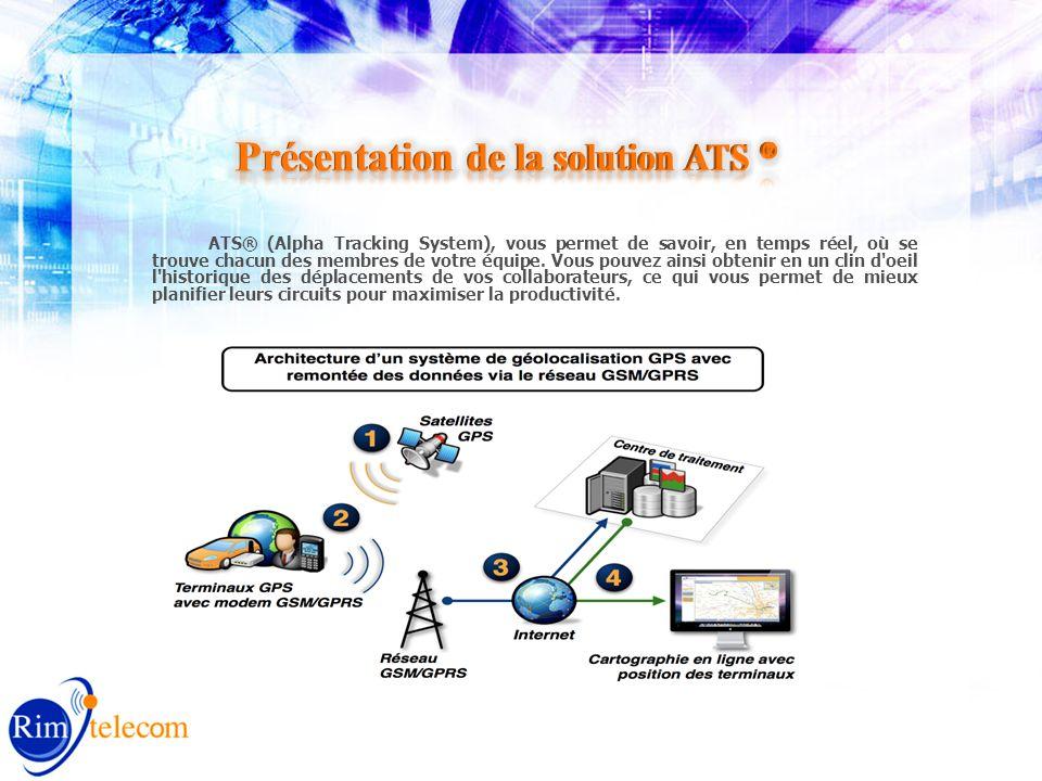 ATS® (Alpha Tracking System), vous permet de savoir, en temps réel, où se trouve chacun des membres de votre équipe.