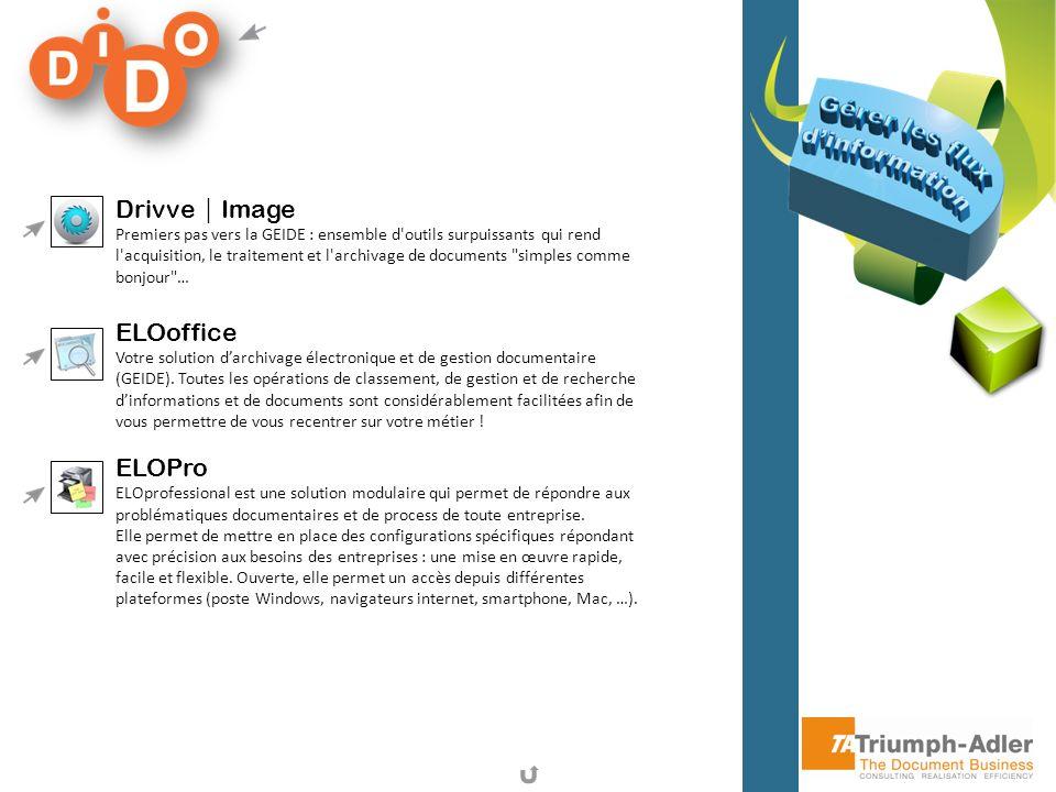 Drivve Image Premiers pas vers la GEIDE : ensemble d'outils surpuissants qui rend l'acquisition, le traitement et l'archivage de documents